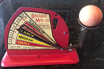 BROWER MFG CO JIFFY WAY POULTRY EGG SCALE Evaluates Fresh Eggs COUNTRY FARMHOUSE