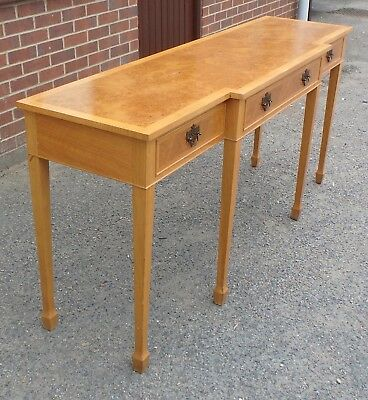 George III Chippendale antique style burr oak sideboard serving console table