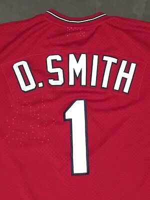new styles f3689 1c61d where to buy authentic mitchell ness 1996 ozzie smith 1 st. louis cardinals  mesh bp