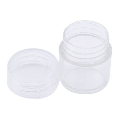 30 Spools Clear False Nail Art Tips Empty Storage Organizer Container Box 8C