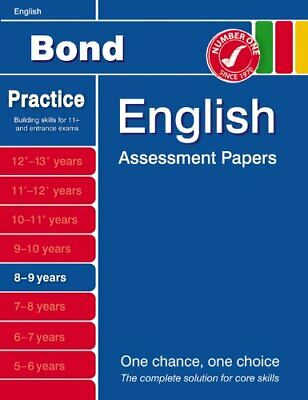 Bond Assessment Papers in English 8-9 years by Sarah Lindsay Paperback Book The