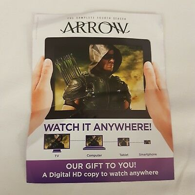 Arrow The Complete Fourth Season  .. In Hd Uk  Ultraviolet Uv Code Only