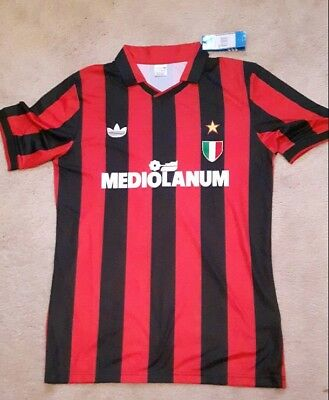 Bnwt Ac Milan Retro Shirt 91/92 Season Any Name & Number Gullit Maldini