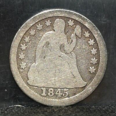 1845-O Liberty Seated Dime - Good Details (#17387)
