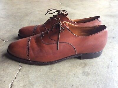 a3317287167ea Peal   Co for Brooks Brothers Cap Toe Oxford Shoes sz 13 Brown England