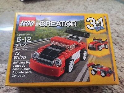 LEGO Creator 3 in 1 Red Racer or Tow Truck or Race Car 72 Pieces Building Kit
