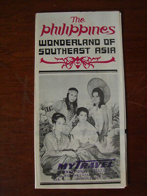 Old Vintage 1960's Travel Brochure The Philippines Wonderland Of Southeast Asia