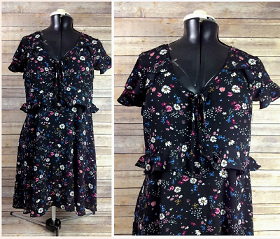 9f7336531 NEW Juniors Womens Sz XL Black Floral Sundress Xhilaration (Target) Empire  Waist