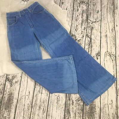 Vintage 1970s Montgomery Ward Bell Bottom Blue Jeans Size 10P