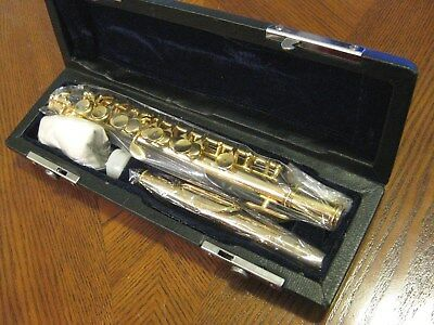 Brand New Clairmont Piccolo Flute, Gold Plated Body & Keys! A Great Player. WOW!