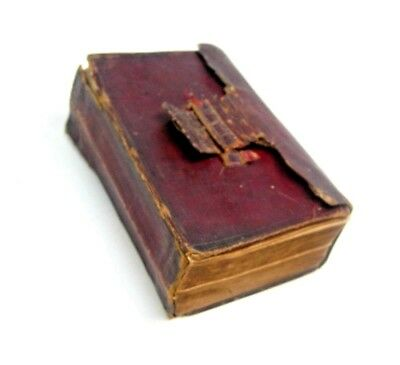 Rare Antique 1850 Civil War Era Small Holy Bible Pocket Freeman Book Leather