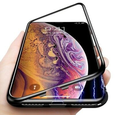 Luxury Magnet Metal Tempered Glass Case Cover For Apple iPhone X XS Max XR 8 7
