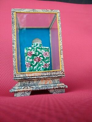 vintage Porcelain Hand Painted Snuff Bottle