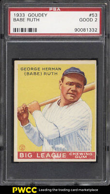 Verzamelingen BABE RUTH 1933 Goudey 23KT Gold Card # 53 ROOKIE New York Yankees BOGO *