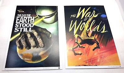 Loot Crate Invasion Mini Prints - 9x6 - War of the Worlds, Day Earth Stood Still