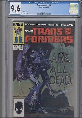 Transformers #5 CGC 9.6 Marvel 1986 Marvel Comic