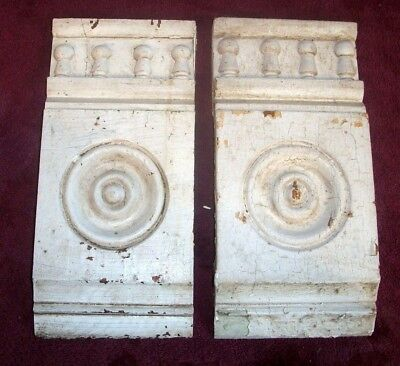 Victorian Bullseye Door - Window Corner Molding Blocks with Columns