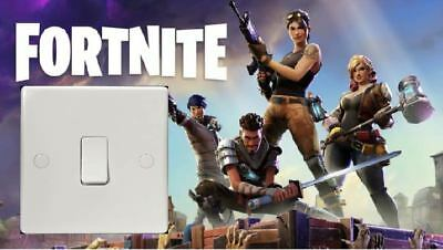 Fortnite PS4 Xbox Game Light Switch Surround Cover Bedroom wall sticker kids
