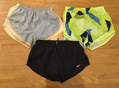 Nike Tempo Dri-fit Running Shorts Womens L Large Lot Of 3 EUC