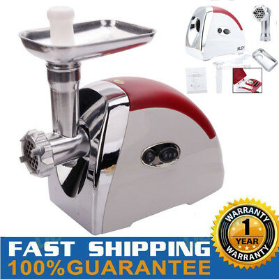 MUCH Luxury Electric Meat Grinder Mincer Sausage Stuffer Stainless Steel 2800W