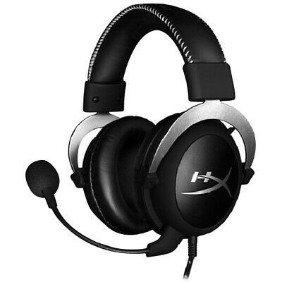 HyperX Cloud Silver Headset 3.5mm Wired In-line Audio Control Headphone with Mic