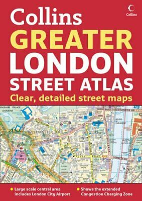 Greater London Street Atlas by Collins UK Hardback Book The Cheap Fast Free Post