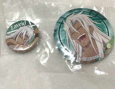 Tales of Zestiria, Zaveid or Zabiida, Lot of 2 Mini and Medium Round Can Buttons