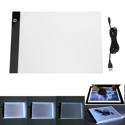 A4 LED Writing Painting Light Box Tracing Board Copy Pad Drawing Tablet Artcraft