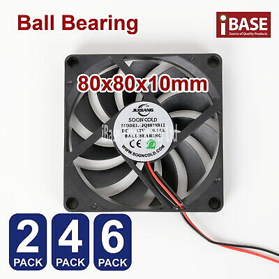 Computer Case Fan PC Cooling Cooler Bearing DC 12V Brushless Silent 80mm x80x 10