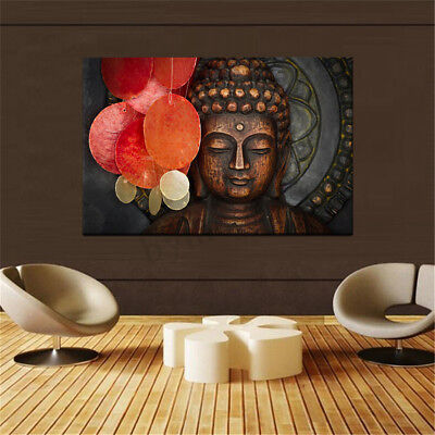 Buddha Statue Meditation Painting HD Print on Canvas Home Room Wall Decor Art