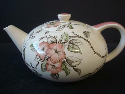 Vintage Crown Ducal Pink Floral 2 Pint Teapot