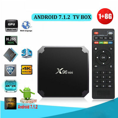 X96MINI Android 7.1.2 Nougat 1+8G Quad Core 4K Media HDMI WIFI Smart TV BOX LT