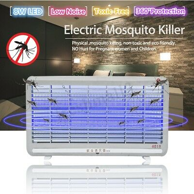 Electric Insect Killer Mosquito Pest Fly Bug Zapper Trap Catcher Home LED Lamp