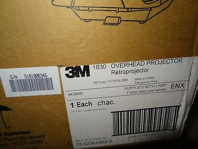 3M 1830 Overhead Projector as Shown in Photos LOCAL ONLY 77388 (See Details!)