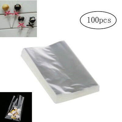 100pcs OPP Clear Bags for Bakery, Candy, Soap, Cookie and Valentine Gifts 10*6cm
