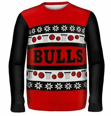 Chicago Bulls Suéter Suéter Ugly , NBA Basketball, Invierno Style, Talla XL