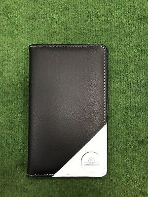 Faux Leather Golf Scorecard Holder With Ball Marker