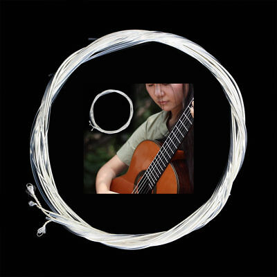 6pcs Guitar Strings Classic Guitar Clear Nylon Strings Silver Plated Copper NGYT