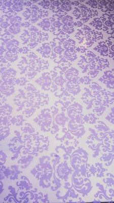 100m x 80cm Lilac Vienna Patterned Florist Cellophane Gift Decorative Wrap Roll