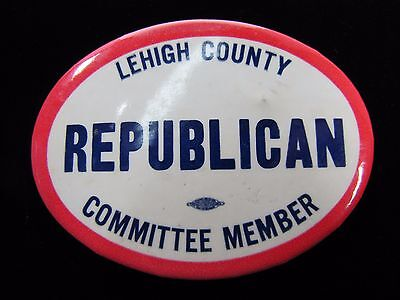 Vtg LEHIGH COUNTY REPUBLICAN COMMITTEE MEMBER Political Button Pin Pinback