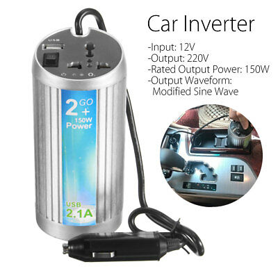 150W 300W DC 12V to 240V AC Power Inverter Can With USB Port Car Boat Caravan