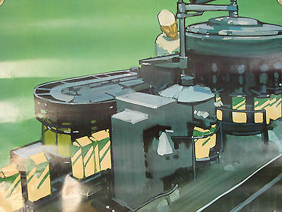 1968 National DAIRY Council Advertising Poster BOTTLING PASTEURIZED MILK