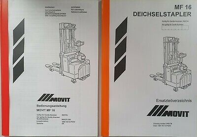 Manual Incl. Spare Parts Book BT Movit Mf 16/LSF160 292314- Original