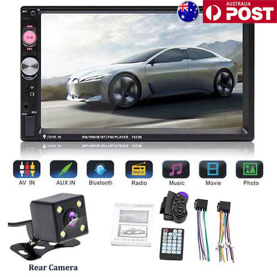 """7"""" Double 2 Din Car Bluetooth MP5 Radio Stereo Player+Steering Wheel PC+Camera"""