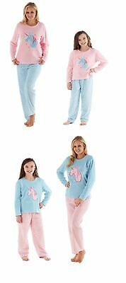 Ladies Girls Unicorn Pyjamas Pajamas Set Pjs Nightwear Christmas Gift