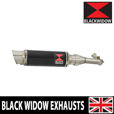 Piaggio Vespa GTS 250 2005 - 2016 Black Stainless Steel End Can Silencer BG23R