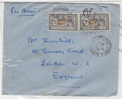 Morocco 1931 Protectorate Francaise 2 Fr x 2 Cover To London J2804