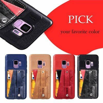 For Samsung TPU protective skin kickstand shockprood slim phone case Card holder