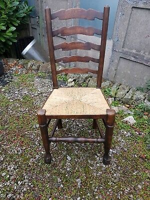 Rush Seated Ladderback Chair