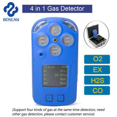 4 in1 Toxic Harmful Gas Detector CO H2S EX O2 Oxygen Gases Test Monitor Meters